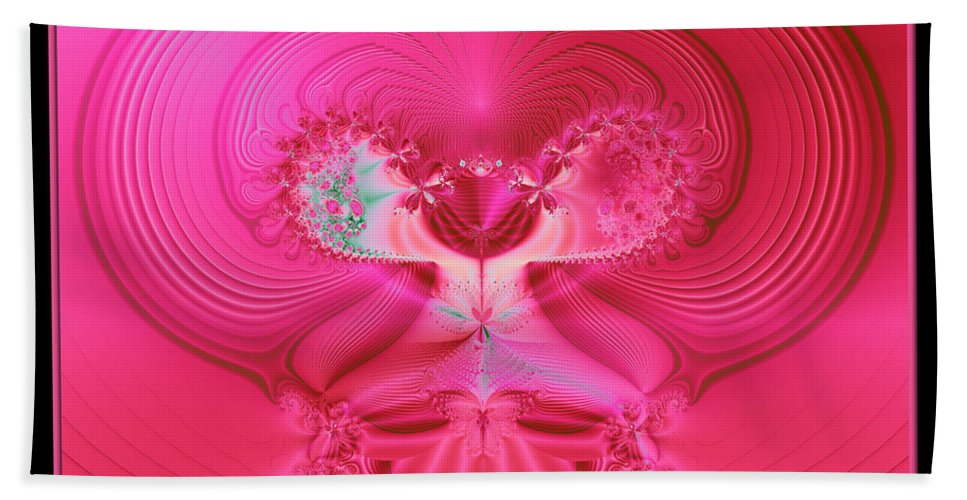 Love Hand Towel featuring the photograph Fractal 30 Love Is In The Air by Rose Santuci-Sofranko
