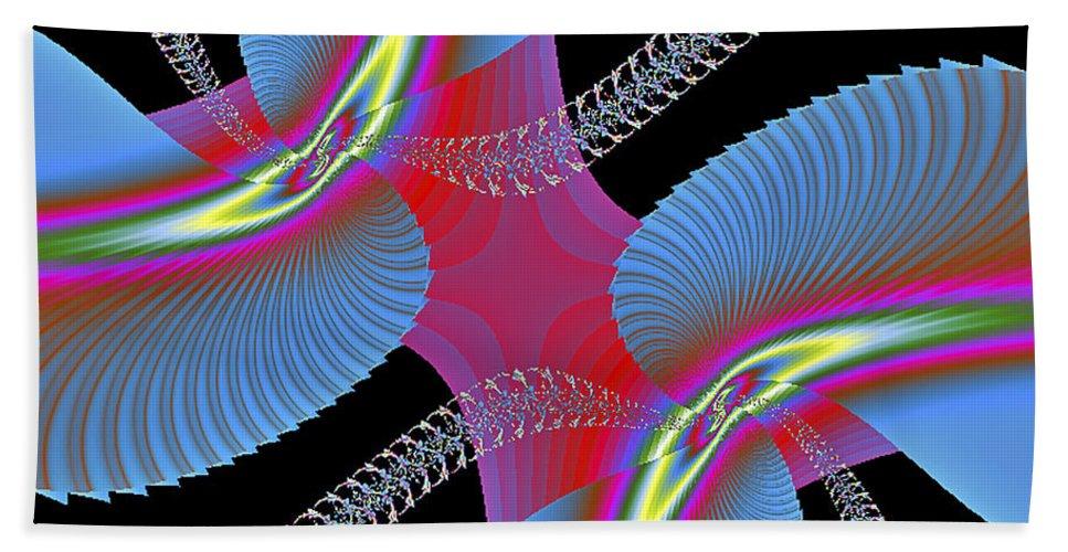 Abstract Bath Sheet featuring the digital art Fractal Art by Susan Candelario