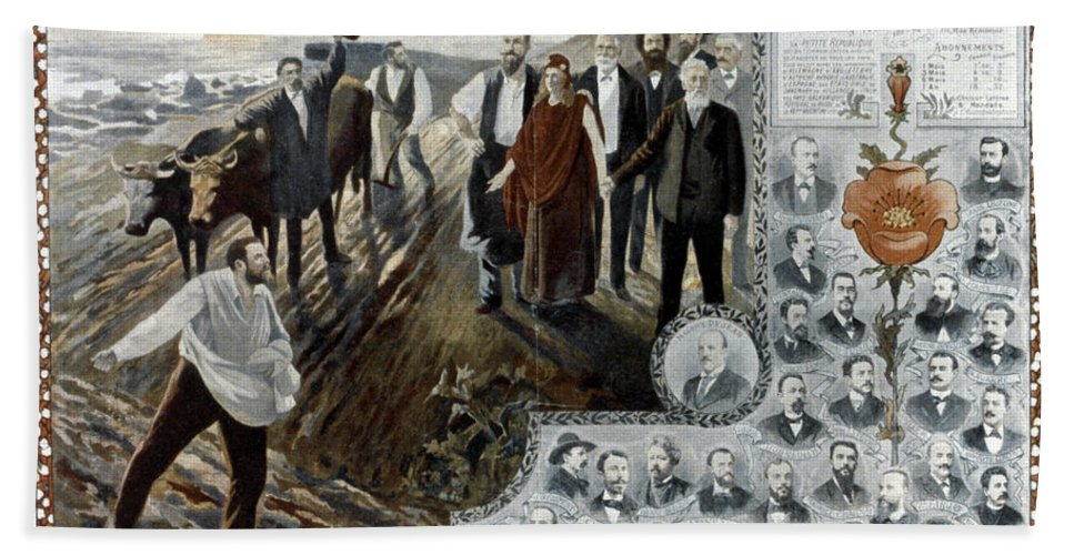 1900 Hand Towel featuring the photograph France: Socialism, 1900 by Granger