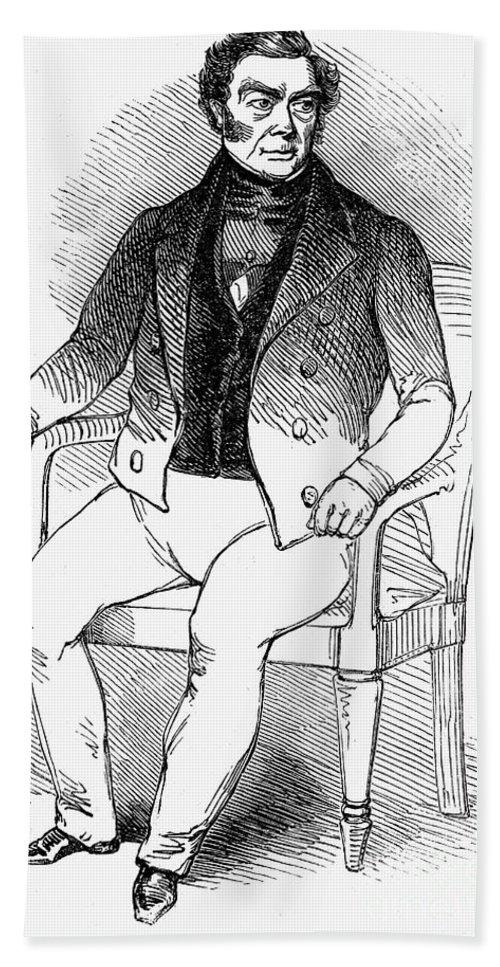 1845 Bath Sheet featuring the photograph Francois Vidocq (1775-1857) by Granger