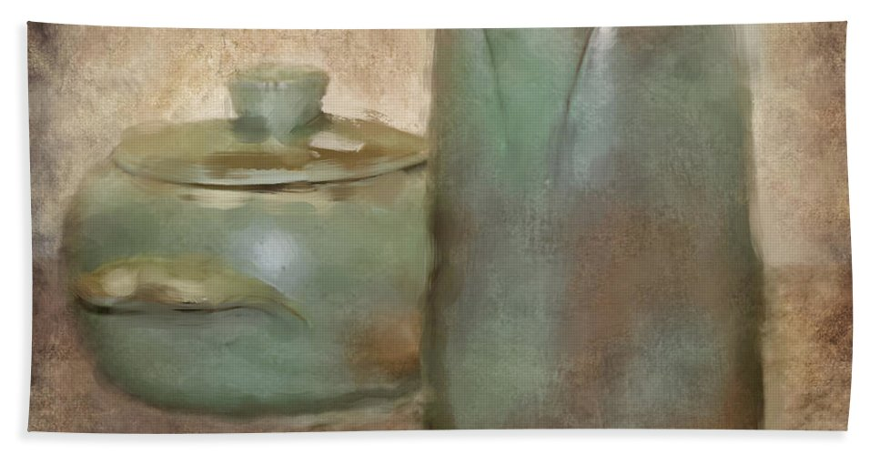 Frankhoma Pottery Bath Sheet featuring the photograph Frankhoma Pottery by Betty LaRue