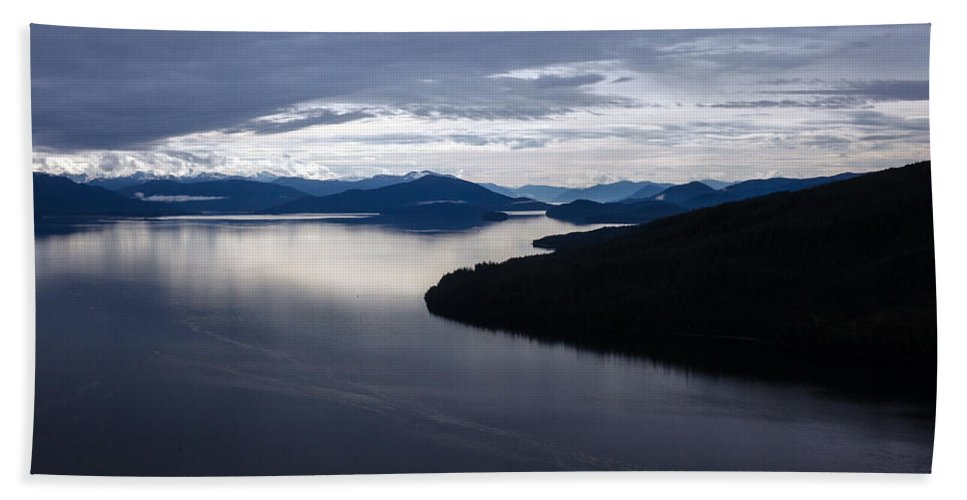 Frederick Sound Bath Sheet featuring the photograph Frederick Sound Morning by Mike Reid