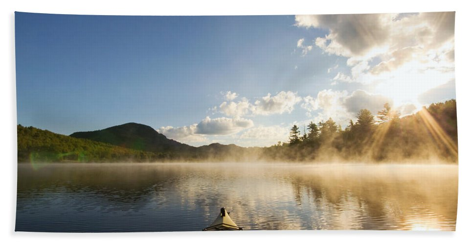 Kayak Hand Towel featuring the photograph Free To Be by Stephanie McDowell