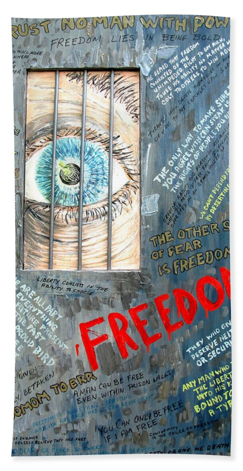 Freedom Bath Sheet featuring the painting Freedom by Ian MacDonald