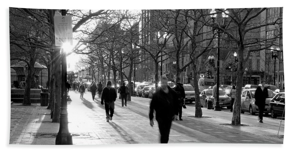 Art Hand Towel featuring the photograph Friday In The City by Greg Fortier
