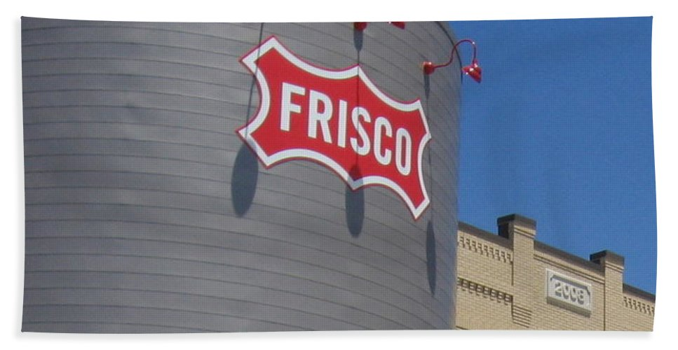 Frisco Hand Towel featuring the photograph Frisco Museum by Amy Hosp