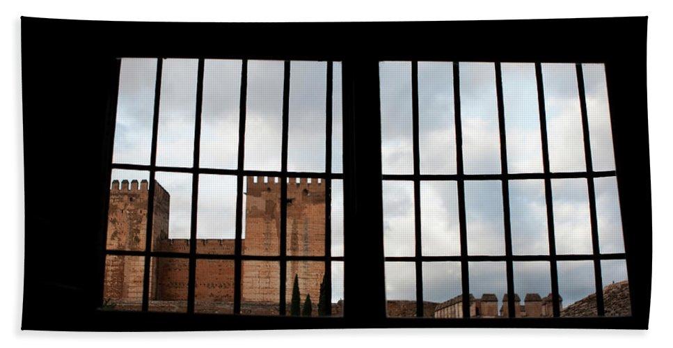 Granada Bath Sheet featuring the photograph From Inside Alhambra by Lorraine Devon Wilke
