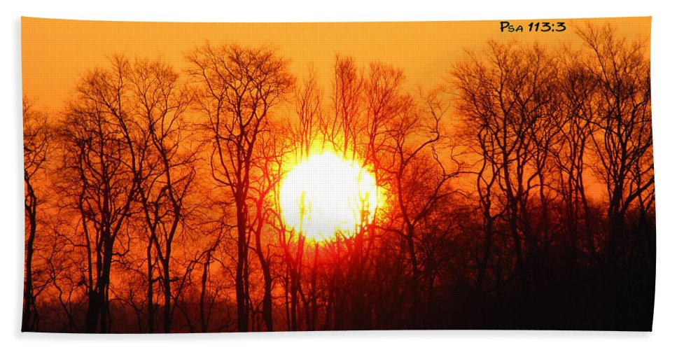 Bible Bath Sheet featuring the photograph From The Rising by Ericamaxine Price