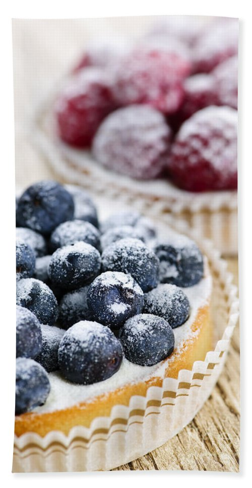 Fruit Hand Towel featuring the photograph Fruit Tarts by Elena Elisseeva