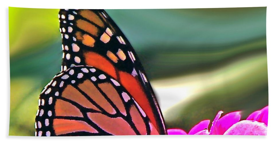 Nature Abstract Hand Towel featuring the photograph Fueling Up To Ride The Wind by Byron Varvarigos