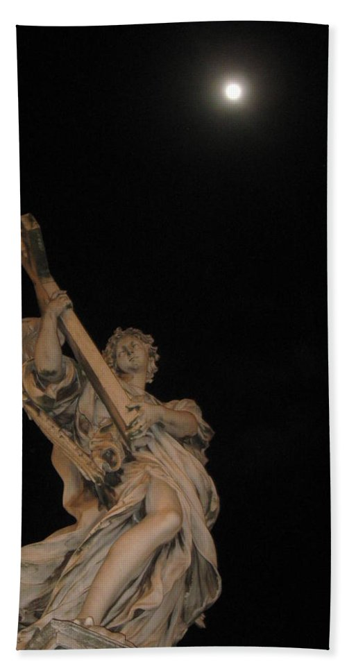 Rome Hand Towel featuring the photograph Full Moon Prayer by Catie Canetti