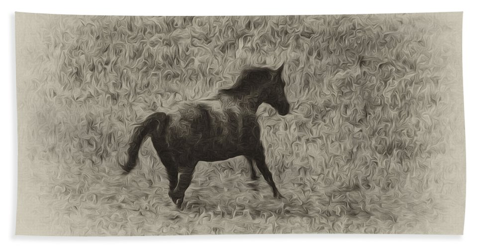 Galloping Horse Hand Towel featuring the photograph Galloping Horse by Bill Cannon