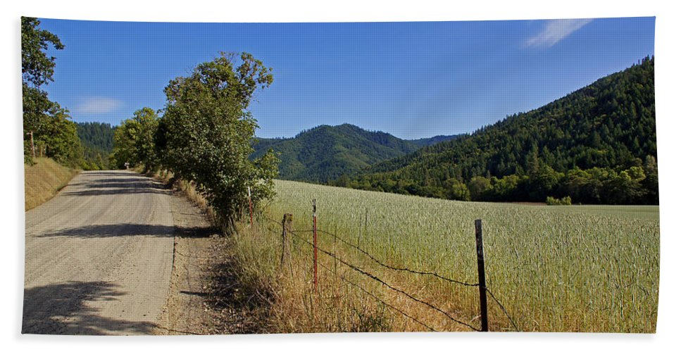 Travel Hand Towel featuring the photograph Galls Creek Road In Southern Oregon by Mick Anderson