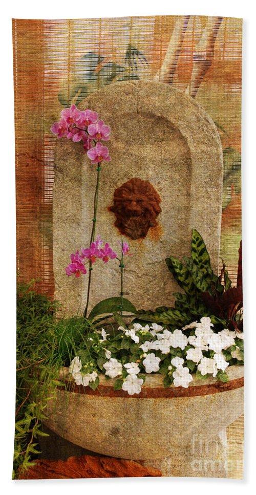 Flower Bath Sheet featuring the photograph Garden Deco by Susanne Van Hulst