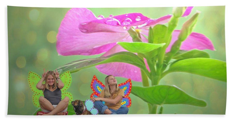 Plants Bath Sheet featuring the photograph Garden Fairy Friends by Debbie Portwood