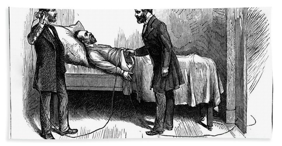1881 Bath Sheet featuring the photograph Garfield Assassination by Granger