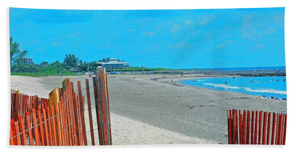 Beach Hand Towel featuring the photograph Gate To Paradise by Gary Wonning