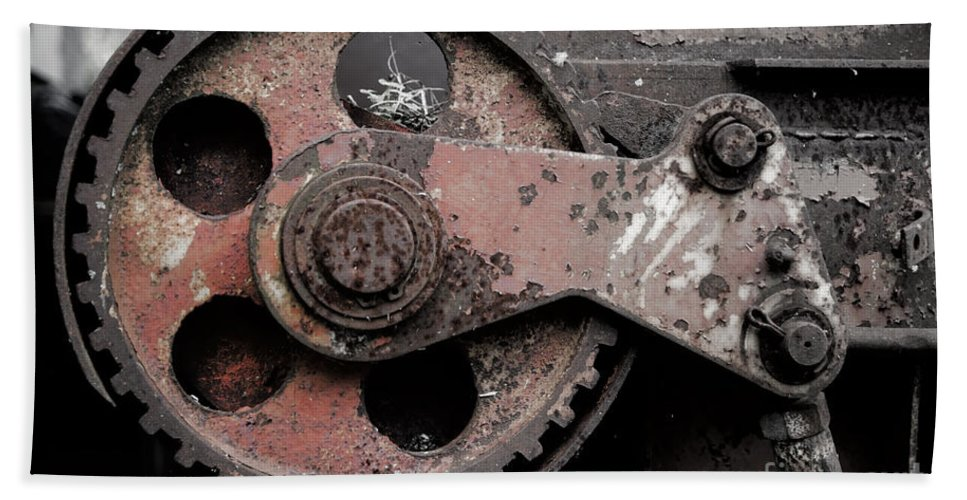 Gear Wheel Bath Sheet featuring the photograph Gear Wheel by Mats Silvan