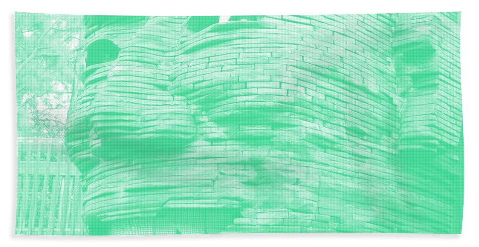Architecture Bath Sheet featuring the photograph Gentle Giant In Negative Green by Rob Hans