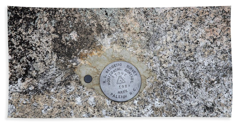 Geological Marker Hand Towel featuring the photograph Geological Marker by Ted Kinsman