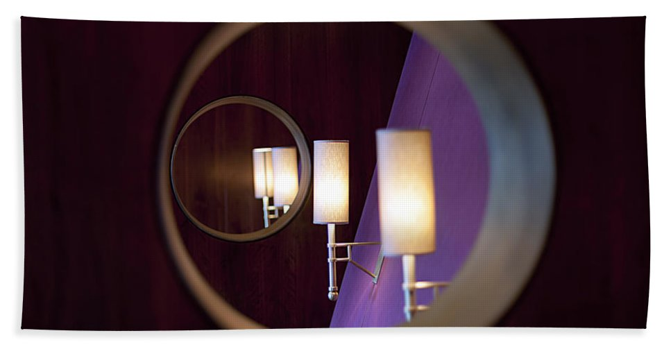 Interior Design Bath Sheet featuring the photograph Geometry Of Design by Edward Kreis