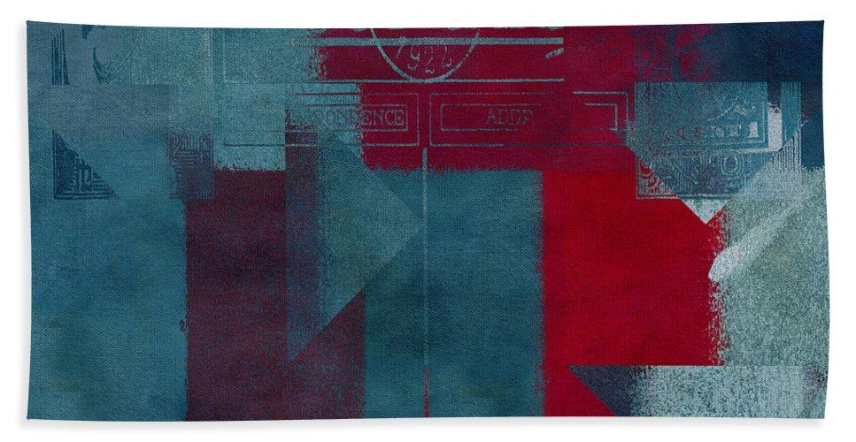 Abstract Bath Sheet featuring the digital art Geomix 03 - S330d05t2b2 by Aimelle