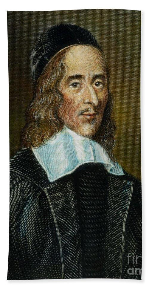Cap Bath Sheet featuring the photograph George Herbert (1593-1633) by Granger