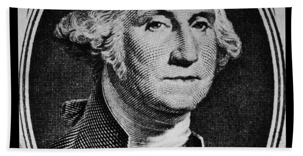 George Washington Bath Sheet featuring the photograph George Washington In White by Rob Hans