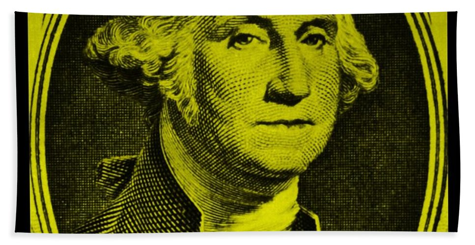 George Washington Bath Sheet featuring the photograph George Washington In Yellow by Rob Hans