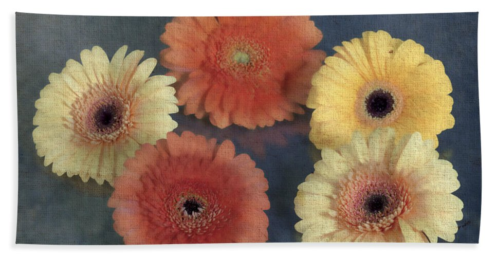 Gerbera Hand Towel featuring the photograph Gerberas by Joana Kruse