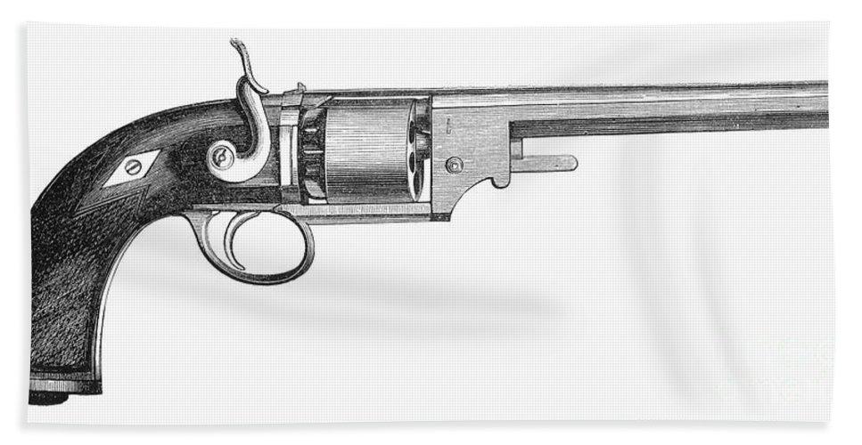 1856 Bath Sheet featuring the photograph German Revolver, 1856 by Granger