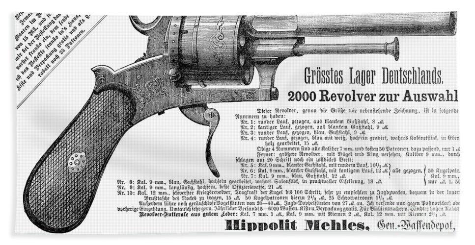 1880 Bath Sheet featuring the photograph German Revolver, 1880 by Granger