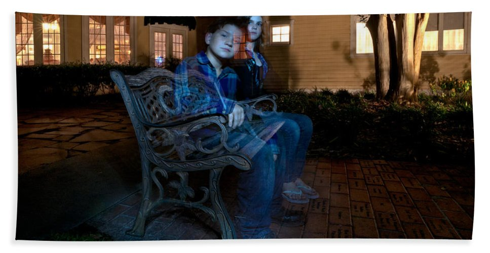 Ghost Bath Sheet featuring the photograph Ghostly Cousins by Christopher Holmes