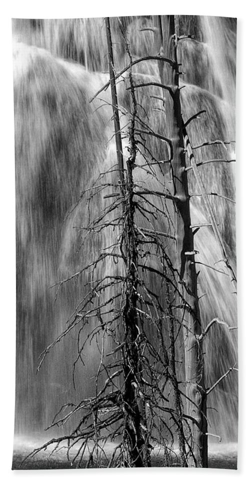 Art Bath Sheet featuring the photograph Gibbons Falls In Yellowstone National Park by Randall Nyhof
