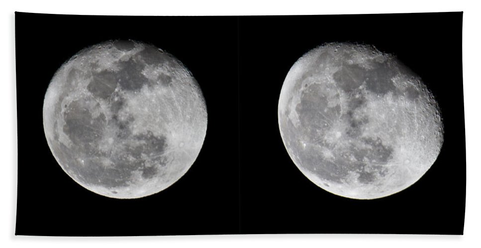Moon Bath Sheet featuring the photograph Gibbous Moon by Betsy Knapp