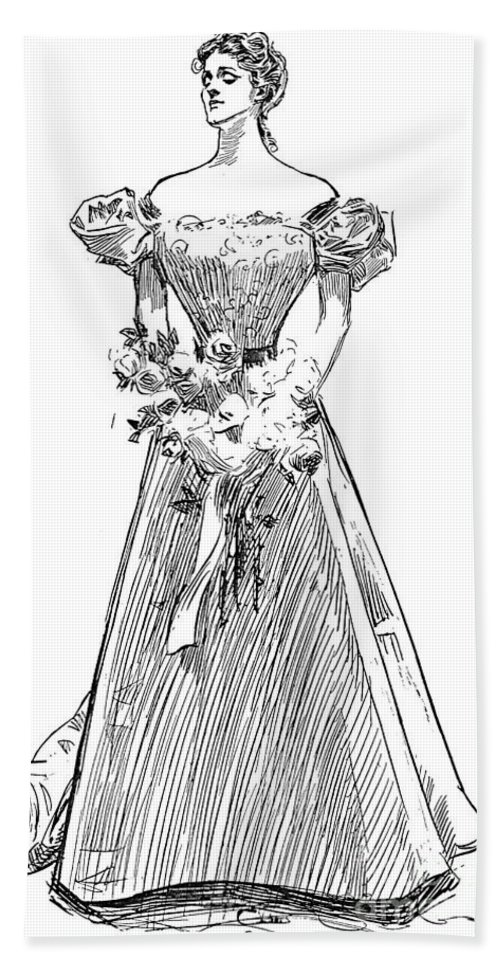 1897 Hand Towel featuring the photograph Gibson: Gibson Girl, 1897 by Granger