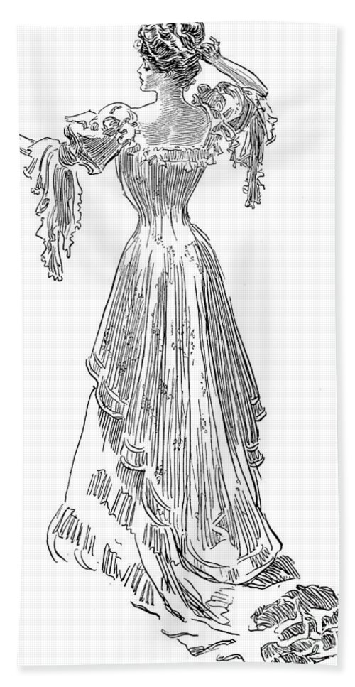 1903 Hand Towel featuring the photograph Gibson: Gibson Girl, 1903 by Granger