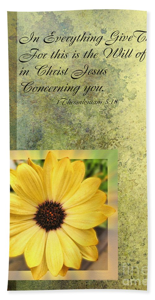 Season Hand Towel featuring the photograph Give Thanks IIi by Debbie Portwood