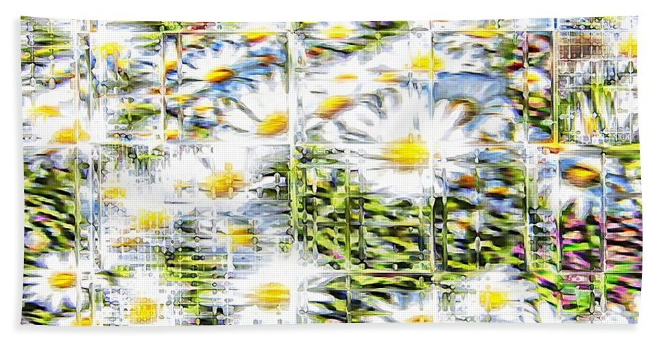 Flowers Floral White Glassy Hand Towel featuring the photograph Glass Flowers by Alice Gipson