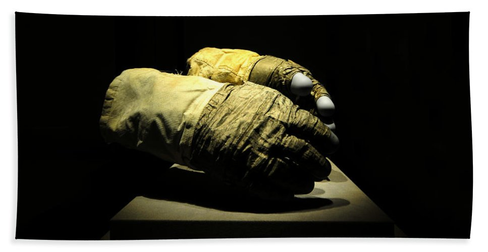 Fine Art Photography Bath Sheet featuring the photograph Gloves Of Apollo by David Lee Thompson
