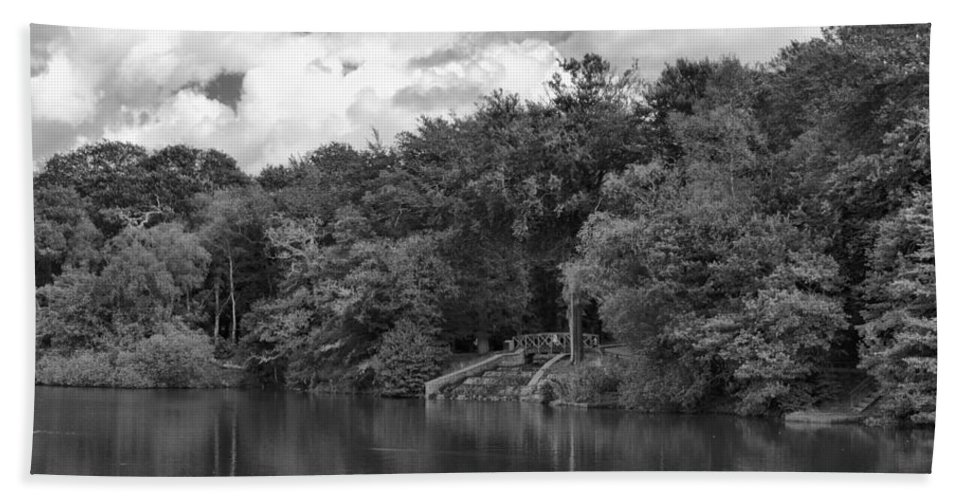 Gnoll Estate Country Park Bath Sheet featuring the photograph Gnoll Country Estate 2 Mono by Steve Purnell