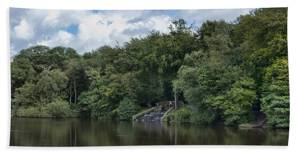 Gnoll Estate Country Park Hand Towel featuring the photograph Gnoll Country Estate 2 by Steve Purnell