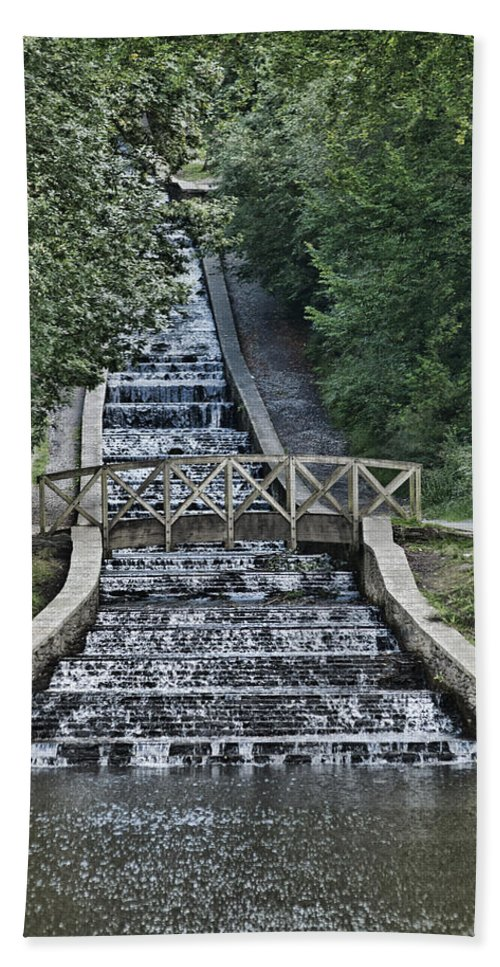Gnoll Estate Country Park Bath Sheet featuring the photograph Gnoll Country Estate by Steve Purnell