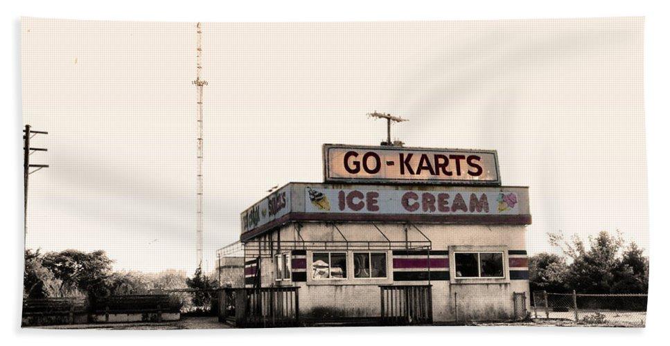 Go-karts - Wildwood New Jersey Hand Towel featuring the photograph Go-karts - Wildwood New Jersey by Bill Cannon