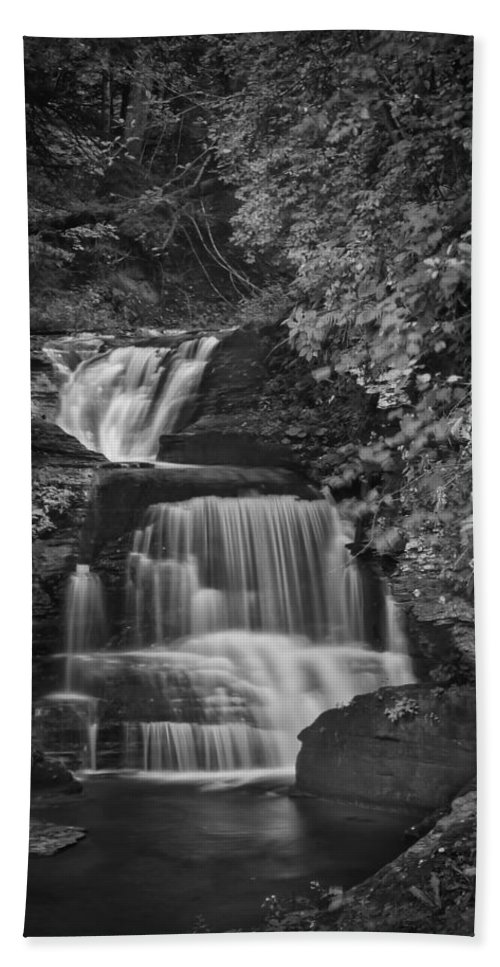 Treman Hand Towel featuring the photograph Go With The Flow by Evelina Kremsdorf