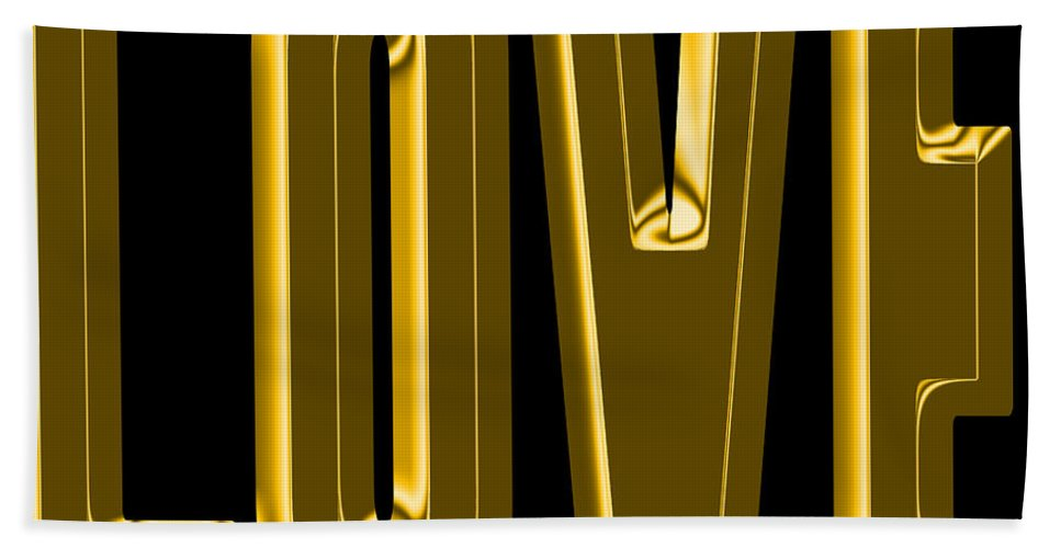 Love Hand Towel featuring the photograph Gold Love by Andrew Fare