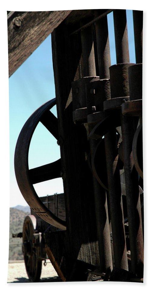 Usa Hand Towel featuring the photograph Gold Mining Stone Crusher by LeeAnn McLaneGoetz McLaneGoetzStudioLLCcom