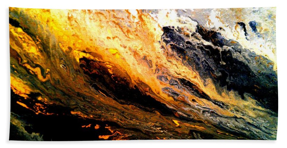 Gold Bath Sheet featuring the painting Gold Rush by Eric Moore