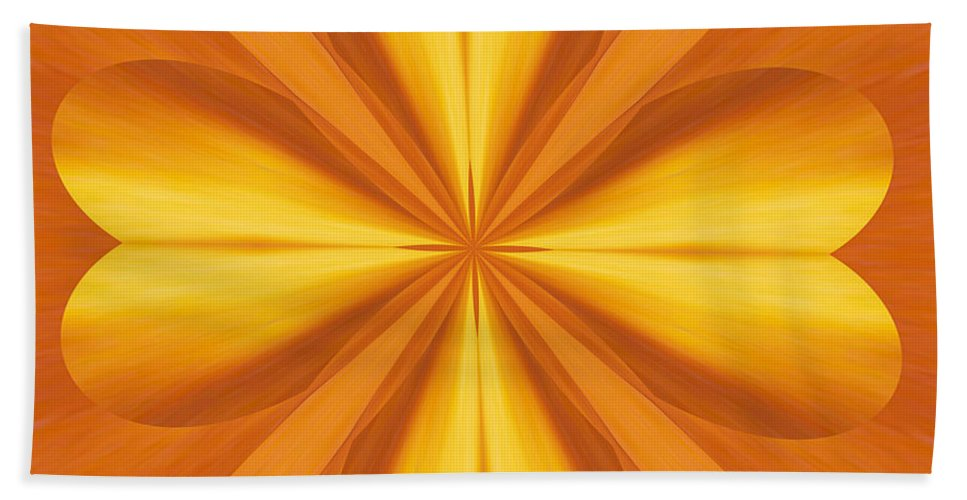Kaleidoscopic Bath Sheet featuring the photograph Golden 4 Leaf Clover by Donna Brown