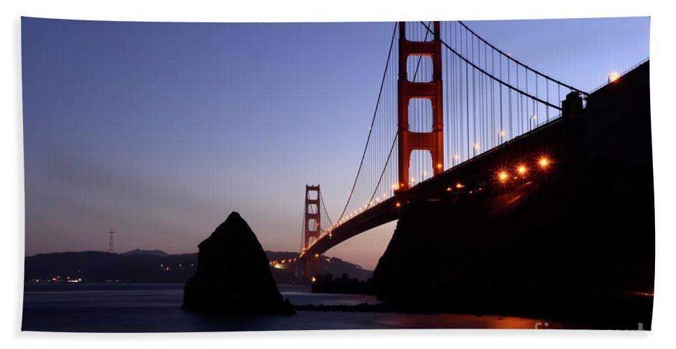 Golden Gate Bridge Hand Towel featuring the photograph Golden Gate Bridge by Bob Christopher